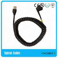 Power Cord Spiral Cable with Euro Plug and Rotating Plug for Hair Dryer