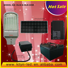 New models import & export KLN-N-SLR-80W ul listed solar street light price list