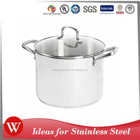 Jiangmen As seen on TV Stainless Steel Cookware Set Kitchen Stock Casserole Pot with Scale 8Qt