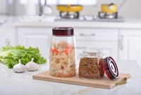 Clear Glass Pickle Jar / Ferment Storage Container 1.8L Clear Type /Make Sauerkraut, Kimchi, Pickles Fermented Probiotic