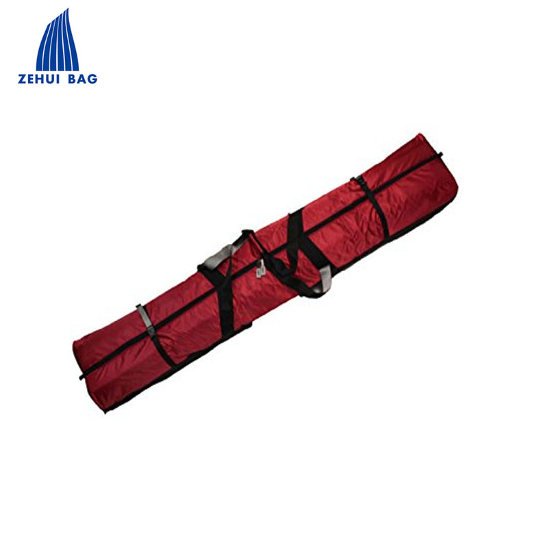 Oversized double ski trolley bag snowboard bag wheeled with fully padded up to 190cm