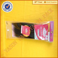 Custom hair extension plastic bag of plastic card pouch