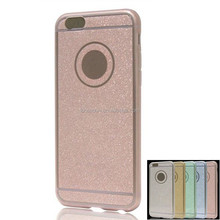 glitter TPU+PC combo back cover bumper case for iphone 5s 6 7 s plus for Lenovo zuk k1 vibe k4 note 5 4 3 2 1
