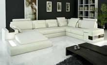 2015 Modern Design Top Grain Leather Sectional Sofa 9107