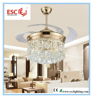 crystal fan/invisible ceiling fan/contemporary ceiling fans light
