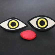 China Direct Factory Hand Design Embroidery Design Eyes Clothing Accessories Garment