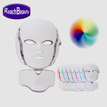 Face and neck skin care led photon therapy mask anti-aging PDT beauty machine