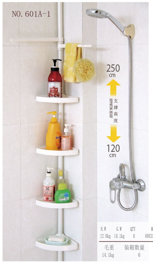 bathroom shelf multi layers steel pipe bathroom pole shelf