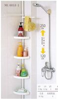 multi layers steel pipe bathroom pole shelf