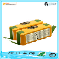 Manufacturer direct sale 2500mah SC 14.4v ni-mh robot vacuum cleaner battery pack for Irobot Roomba