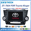 ZESTECH Factory oem hd touch screen car pc for Toyota Kluger auto radio gps car headunit dvd cd player