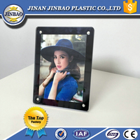 Jinbao clear magnetic acrylic frameless picture/photo frame