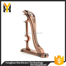 Elegant style strong curtain pole mounting solid metal brackets for pipes
