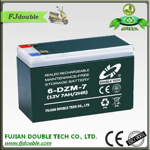 Top sale in the markte made in china electric bike /scooter/scale batteries 12v 7ah battery 6-dzm-7