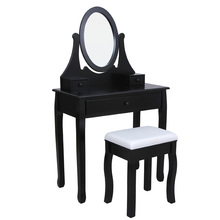 Shabby Chic Mirror China Imported Dressing Table Girl Black Dresser