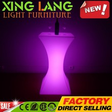 fashionable3D model clear electric PE plastic RGB color change waterproof LED cheap table