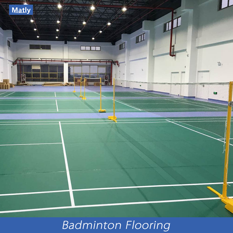 Hot Sales PVC Indoor Sports Flooring for badminton / table tennis / vollyball / gym / dance room