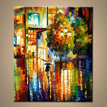 Wholesale Modern HandPainted Abstract Knife Wall Art and Acrylic House Oil Painting