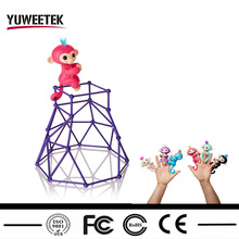 2017 popular products touch smart interactive finger monkey gym stand playset toys holds for finger puppets accessories