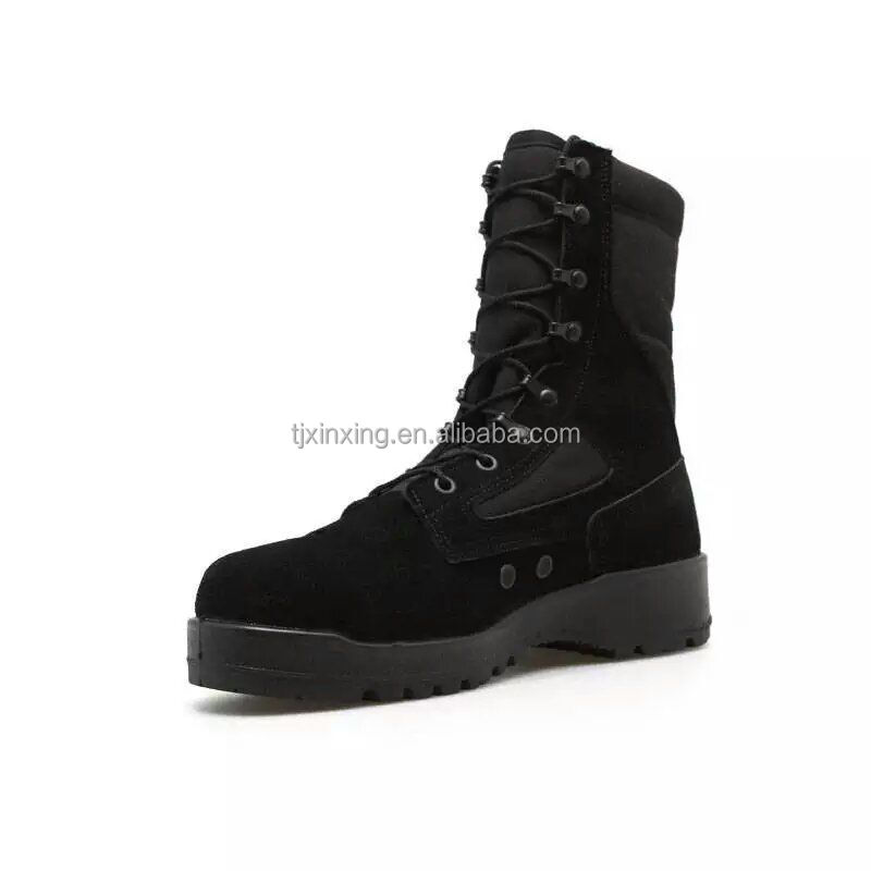 Black Army tactical boots us army boots for sale fabric and leather boot