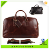 Most popular high quality coffee leather duffel bag for businessman