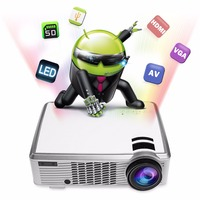 Latest Full HD 1080p LCD 2000 Lumens Smart Mini LED 3D Projector Mobile Phone