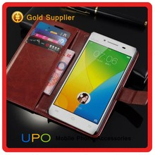 [UPO] Wholesale Book Style With Card Slots Folio Stand Flip PU Leather Wallet Cell Phone Cover Case for Vivo Y51