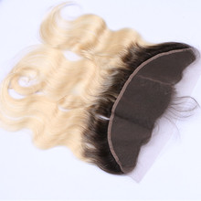 New arrival 1b ombre 613 blonde body wave lace frontal,13*4 lace frontals