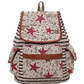 Yiwu Factory Multipurpose Five-Pointed Star Pattern Girls Canvas Bag One Piece Backpack School Backpack