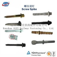 Railway Fastener Rail Sleeper Coach Screw