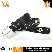 Western Style Fashion Crystal Rhinestone Clothing Accessories Fancy Pu Leahter Belt For Lady