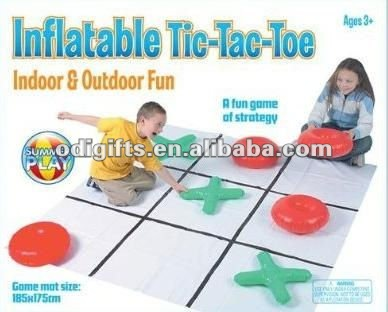 inflatable tic tac toe game pieces PVC air game tic tac toe kids tic tac toe toy