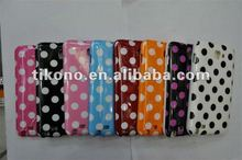 2012 new coming polka dots pattern TPU case for Samsung note i9220