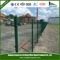 Good corrosion resistance Welded 3D playground metal fence