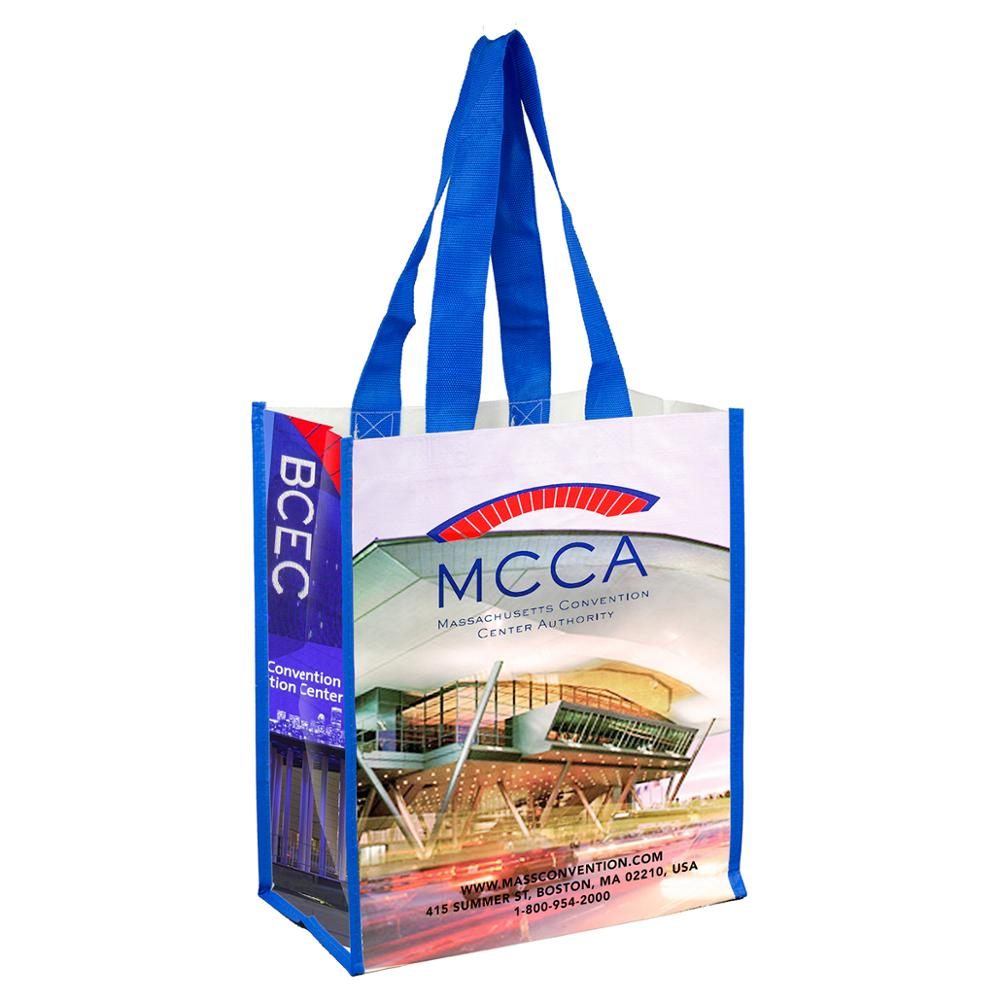 recycled lamination full color printed pp non woven shopping bag