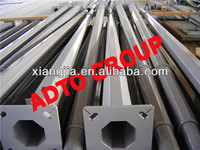 utility galvanized steel poles made in China for China