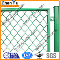 galvanized pvc coated 6ft chain link fence galvanized