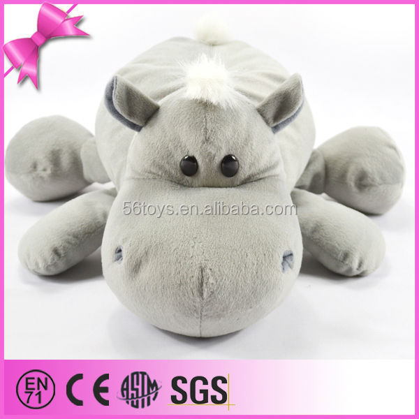 new design China plush toy freefall Position hippo soft fabric