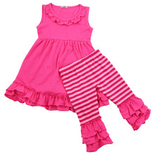 2017 summer latest Style Fashion Design Baby Girl Kids Toddder Fashion Brand Name Clothes