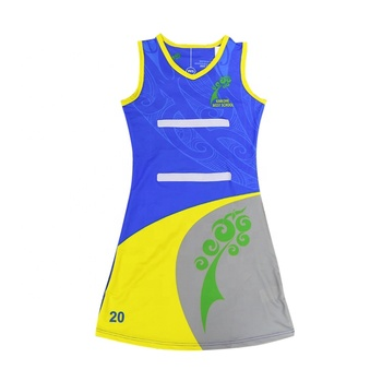 2018 neue Design Leere Netball Uniformen Sublimation Custom Großhandel Netball Kleid