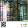 Natural Linen Curtain Fabric Eco Friendly Printed Linen Curtain Fabric Digital Print Line Fabric Curtain