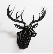 Wooden design Deer head sculpture Decoration