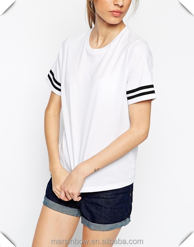 Teen girl t shirt 100 cotton white plain short sleeve t for Small quantity custom t shirts