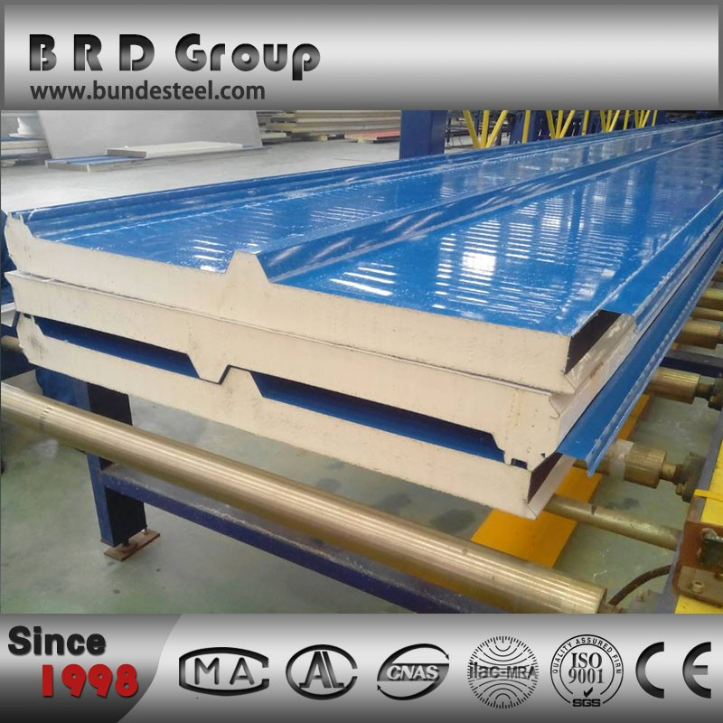 50mm Polyurethane composite board roof panel sandwich