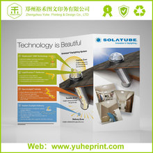 Wholesale custom free design 70g offeat paper printing free samples folder leaflet