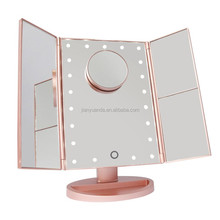 USB charging 3 way vanity light cosmetic led mirror