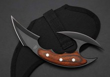 D2 Blade Huntsman Knifes Tactical Karambit Knife Cs go Camping Survival Hunting Claw combat knife