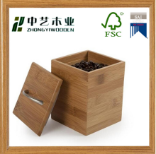 cheap bamboo coffee beans storage packing box