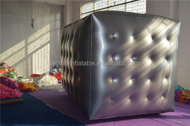 High quality PVC inflatable cube rubix cube balloons inflatable square balloon