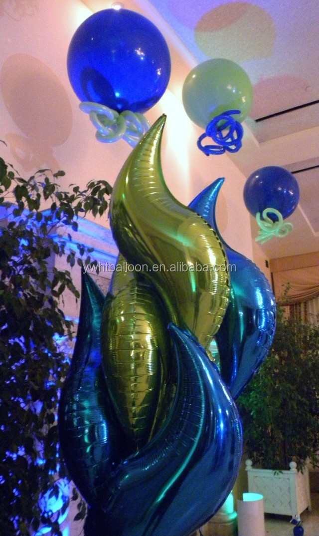 "[HOT] 16""24""36"" Fashion Helium Flower shaped Balloon S shape Foil Balloon Multicolor For Party Decoration"